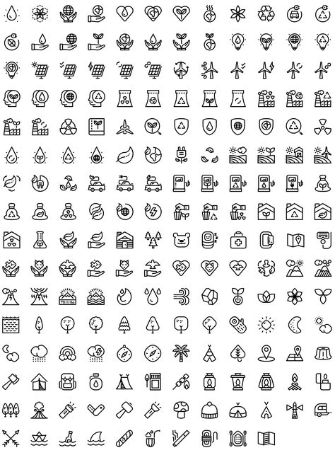 outdoor-nature-ecology-line-icons-preview