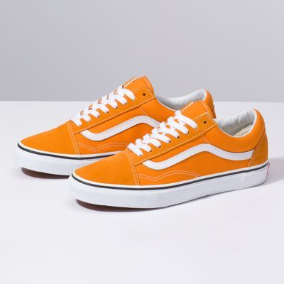 Orange vans, Mens vans shoes, Vans old