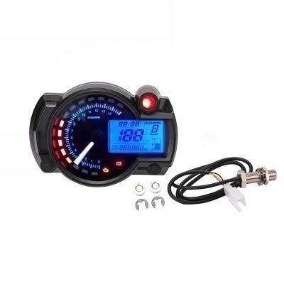 New High Quality Universal Motorcycle Waterproof Motorcycle Lcd Digital Speed Instrument Odometer Motorcycle Speedometer Tachometer