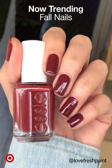 Nail your fall mani with the season's hottest hues, from chic nudes, deep jewel tones & glittery metallics.