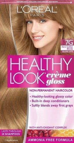 L Oreal Paris Healthy Look Hair Color 7g Dark Golden Blonde Golden Latte By L Oreal Paris Hair Color Health Read Mor Hair Color Loreal Paris Hair Care Tips