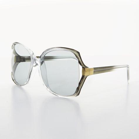5c728ad216812 Vintage 70s Oversize Eyeglass Sunglasses Pink by thenovelty ...