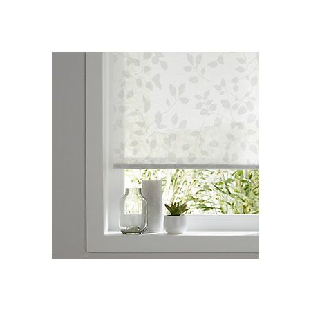 Colours Azurro Corded White Roller Blind L 195 Cm W 90 Cm Departments Diy At B Q Curtains With Blinds Living Room Blinds