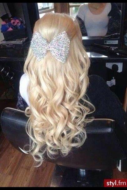 Jewels Hair Bow Blonde Hair Long Hair Curly Hair