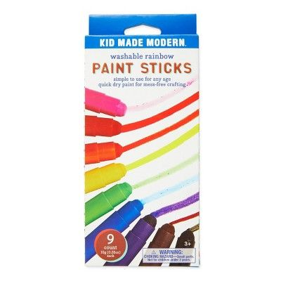 Kid Made Modern 9ct Washable Rainbow Paint Sticks Kid Made Modern At Target Painted Sticks Rainbow Painting Painting