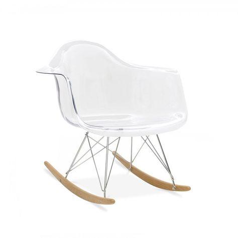 Charles Eames Style Transparent RAR Rocker Chair Home   Klubsessel Vondom  Schlafsessel Garten