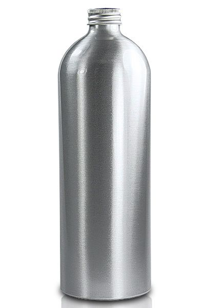 1litre Aluminium Bottle With Aluminium Cap In 2020 Aluminum Bottle Bottle Bottles And Jars