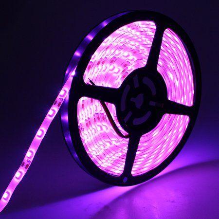 Perfect Holiday Strip Light 300 Led 5m Waterproof Pink Walmart Com Strip Lighting Purple Led Lights Led Lighting Bedroom