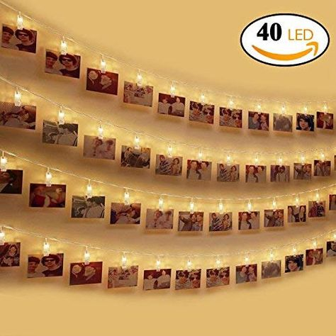 Led Photo Clip Guirlande Lumineuse Otumixx 40 Photo Clips 42m