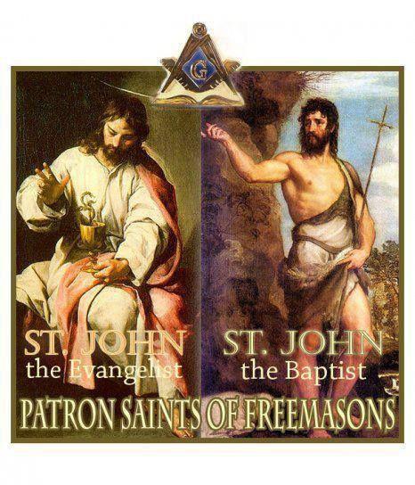 Saint Johns patrons saints of Freemasonry
