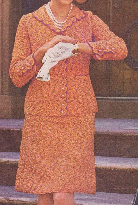 480 PDF Tweed Suit Crochet Pattern, Ladies Chanel Style Suit Pattern, Women's Office Wear, Scallop Edging, Vintage 1970's, PDF Download -  480 PDF Tweed Suit Crochet Pattern, Ladies Chanel Style Suit Pattern, Women's Office Wear, Scallo - #1970s #businesscasualpantswomen #Chanel #CROCHET #Download #Edging #Ladies #ladiesofficewear #Office #pattern #PDF #Scallop #Style #Suit #Tweed #Vintage #Wear #Womens