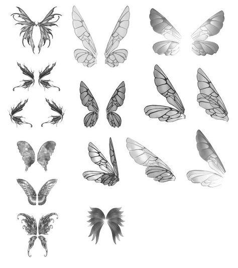 tattoo Fairy Wings JPEG by Belladona-Stock on DeviantArt Fairy Wing Tattoos, Butterfly Tattoos, Butterfly Wings, Owl Wings, Angel Wings, Fairy Drawings, Fairy Wings Drawing, Fantasy Drawings, Wing Tattoo Designs