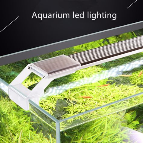 Nicrew SUNSUN ADP Aquatic Plant SMD LED Lighting Aquarium Chihiros 7500K 5W 9W 13W 17W Ultra thin Aluminum Alloy For Fish Tank