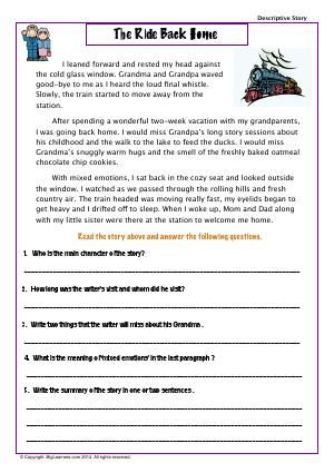 Worksheet The Ride Back Home Read The Story To Answer The Ques