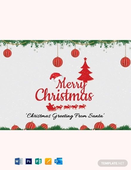 Free Creative Christmas Greeting Card Template Word Doc Psd Apple Mac Pages Publisher Outlook Greeting Card Template Christmas Greetings Christmas Greeting Card Template