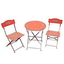 Sunsitt 3 Piece Patio Bistro Set Folding Outdoor Furniture Set