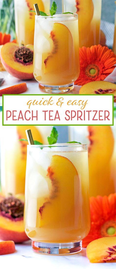 Peach Tea Spritzer Peanut Butter And Fitness Recipe Peach Tea Vodka Nutrition Facts Spritzer