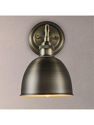 John Lewis Partners Baldwin Bathroom Ceiling Light Antique Brass Wall Lights Bathroom Wall Lights Adjustable Wall Light