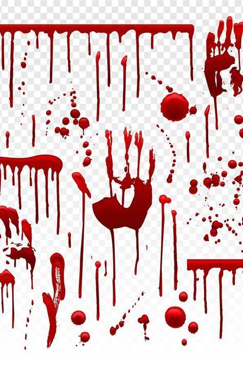 Blood drip. Red paint splash, halloween bloody splatter spot (960012)   Illustrations   Design Bundl