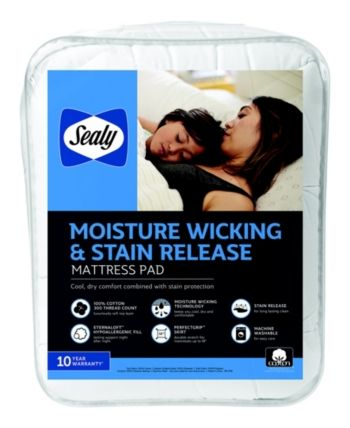 Sealy 100 Cotton Moisture Wicking And Stain Release Full Mattress