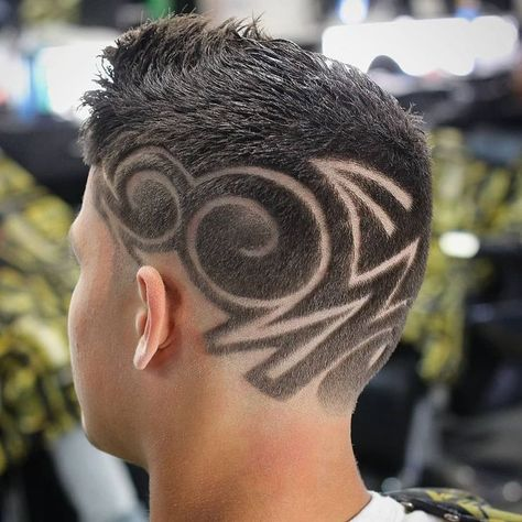Ricanbarber Short Mens Haircut With Freestyle Hair Design