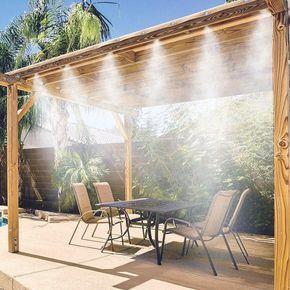 Mistymate Portable Misting System Patio Misting System Backyard