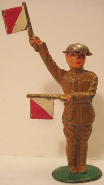 Antique Metal Toy Solr W Semap