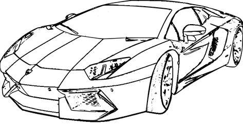 Ausmalbilder Autos Lamborghini - Malvorlagen Gratis