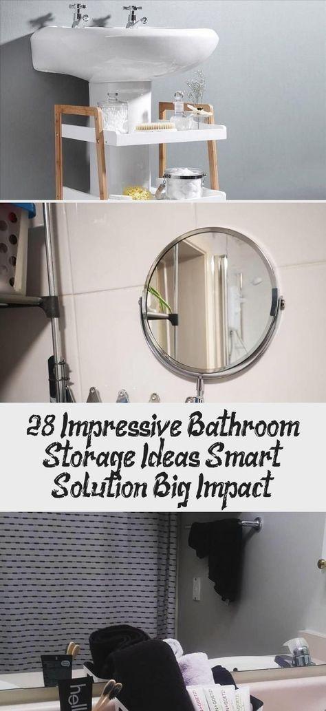 28 Impressive Bathroom Storage Ideas Smart Solution Big Impact!  #bathroomstorag...,  #Bathroom #BathroomStorag #BIG #diybathroomdecormermaid #ideas #impact #Impressive #Smart #solution #Storage