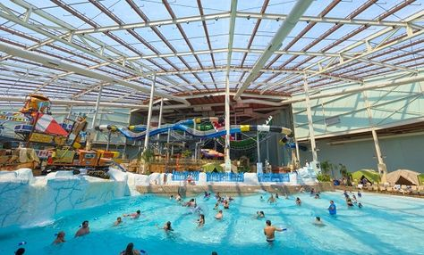 Poconos indoor water park at Camelback Resort. Aquatopia is a premiere water park in PA, featuring sq ft of fun & various water rides.