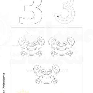نشاطات التلوين وتعلم الارقام الرقم ثلاثة 3 2 Jpg Kids Education Female Sketch Education