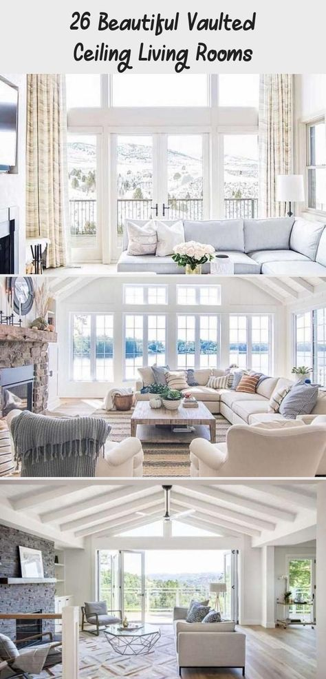 26 Beautiful Vaulted Ceiling Living Rooms - Home Design#beautiful #ceiling #design #home #living #rooms #vaulted