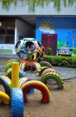look at this great tire playground!!