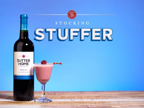 Made with Sutter Home Merlot, our Stocking Stuffer wine cocktail tastes like a luxurious chocolate raspberry truffle.