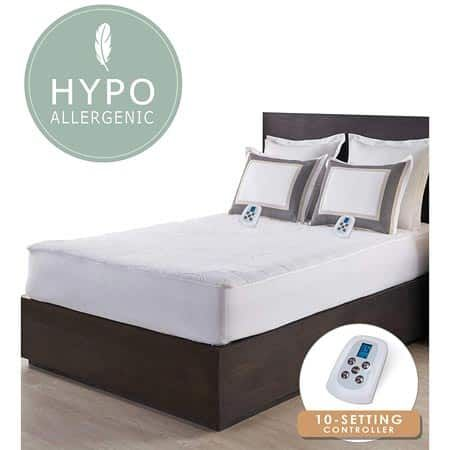 Perfect Fit Luxurious Sherpa Heated Electric Mattress Pad Mattress Heated Mattress Pad Electric Mattress Pad