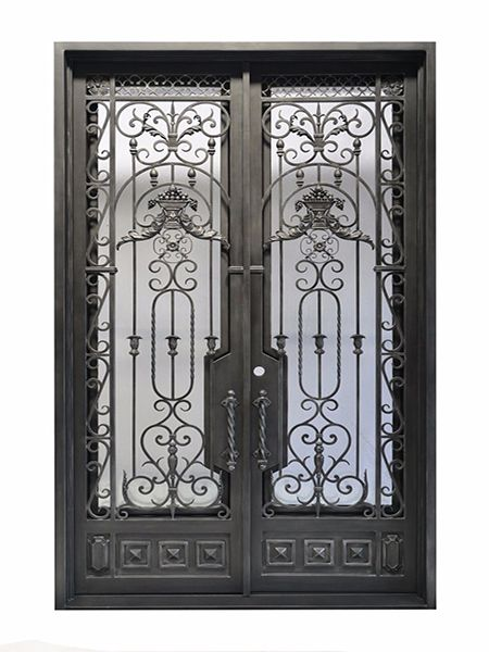 French Wrought Iron Doors With Images Iron Doors Iron Entry