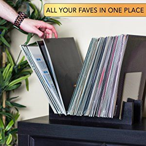 Amazon Com Kaiu Vinyl Record Storage Holder Stacks Up To 50 Albums 7 Or 12 Inch Solid Wood Stand Vinyl Record Storage Record Storage Vinyl Record Display