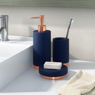 Orren Ellis Bowyer Concrete 3 Piece Bathroom Accessory Set In 2020 Bathroom Accessories Sets Bathroom Accessories Modern Bathroom Decor