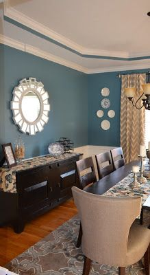 Dining Room  Antique Plates On Wall Paintrefugesherwin Mesmerizing Dining Room Colors Sherwin Williams Decorating Design