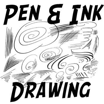 Step penandinkdrawing 350x350 How to Use Pen and Ink Drawing Techniques Lesson