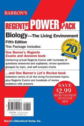 DOWNLOAD PDF] Barrons Regents Power Pack BiologyThe Living
