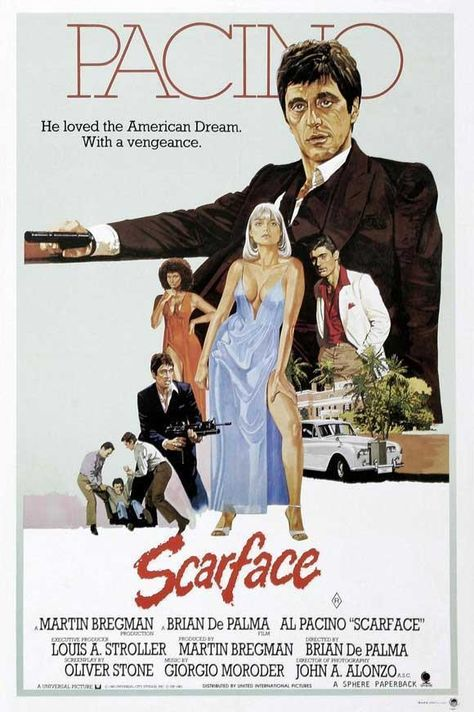 Scarface Movie Poster 27 X 40 Al Pacino, Steven Bauer, J, Licensed, Usa,