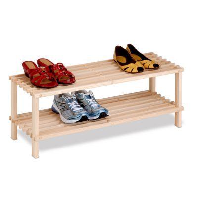 Honey Can Do 2 Shelf Wood Shoe Rack Products In 2019 Wood Shoe