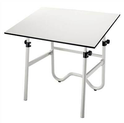 Onyx Drafting Table w Tubular Steel White Base /& Adjustable Legs ID 384344
