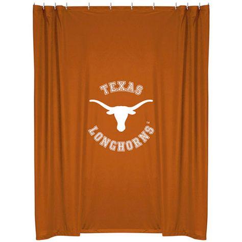 Texas Longhorns 72 X 72 Burnt Orange Shower Curtain Texas