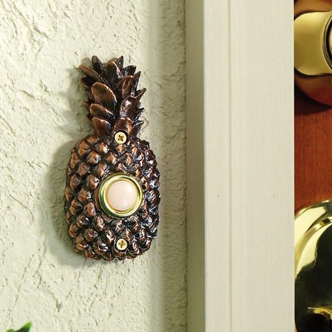 Pineapple Doorbell Cover | Ananas | Pinterest | Doorbell Cover Exterior And Seaside Style. Image Number 37 Of Designer Doorbell Plates . & Designer Doorbells u0026 Spore True Illuminated Contemporary Doorbell ... pezcame.com