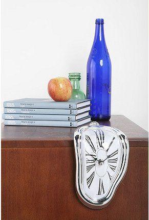 functional melting clock home decor