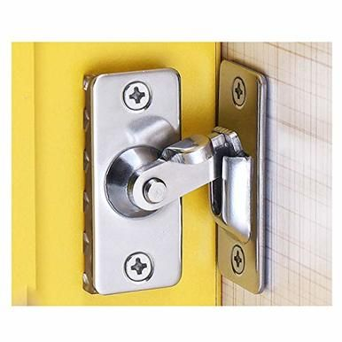 90 Degree Stainless Steel Door Lock Latch Sliding Lock Door Bolt For Home Doors
