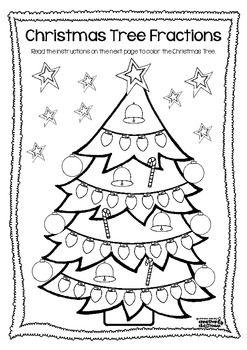Christmas Tree Fractions Freebie Christmas Math Christmas Math Project Christmas Math Worksheets