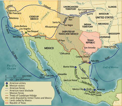 Mexican War Mexican War Professor JoeThompsons - Guadalupe hidalgo on us map